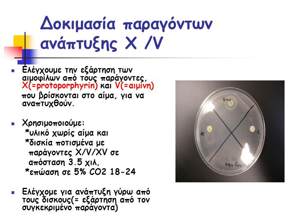 Δοκιμασία παραγόντων ανάπτυξης X /V