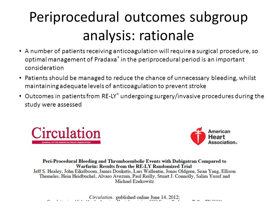 Periprocedural outcomes subgroup analysis: rationale