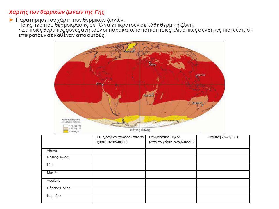 Χάρτης των θερμικών ζωνών της Γης