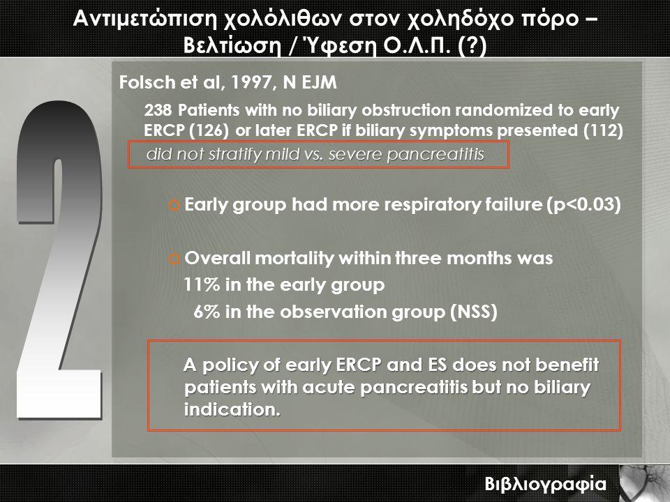 Αντιμετώπιση χολόλιθων στον χοληδόχο πόρο – Βελτίωση / Ύφεση Ο.Λ.Π. ( )