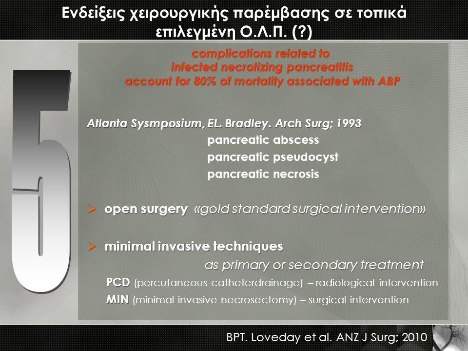 Ενδείξεις χειρουργικής παρέμβασης σε τοπικά επιλεγμένη Ο.Λ.Π. ( )