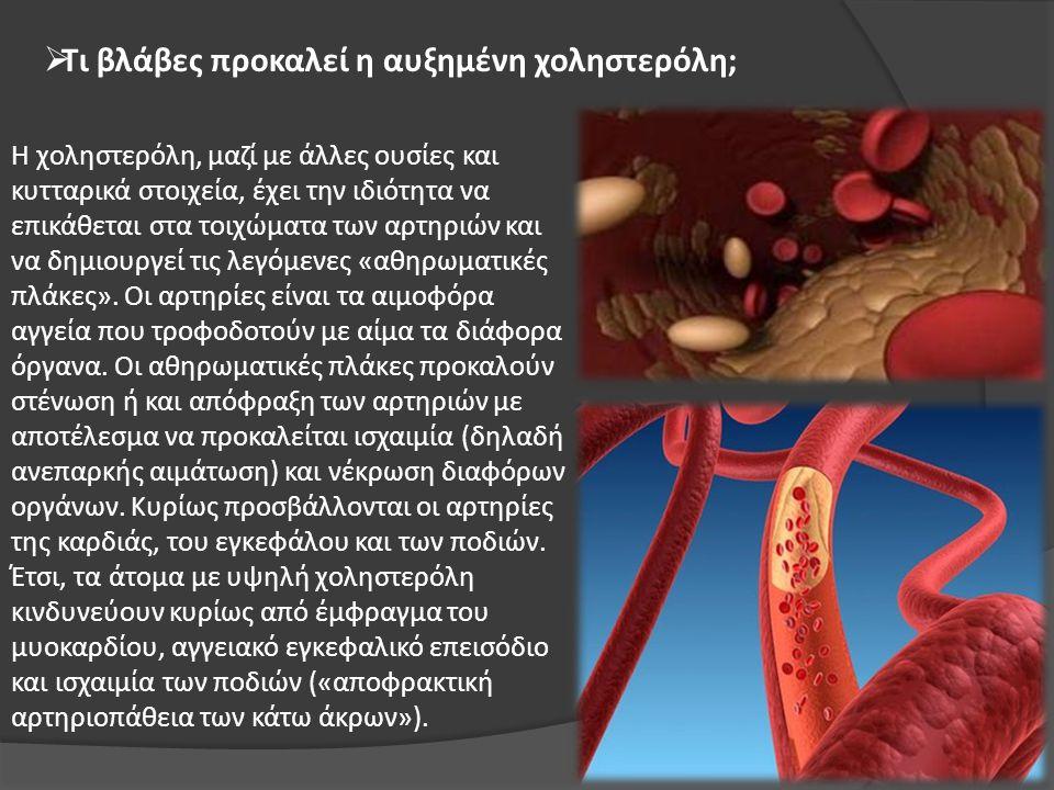 Τι βλάβες προκαλεί η αυξημένη χοληστερόλη;