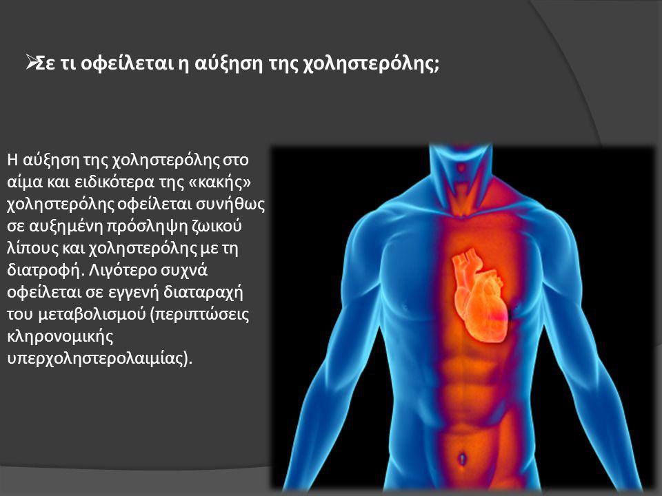 Σε τι οφείλεται η αύξηση της χοληστερόλης;