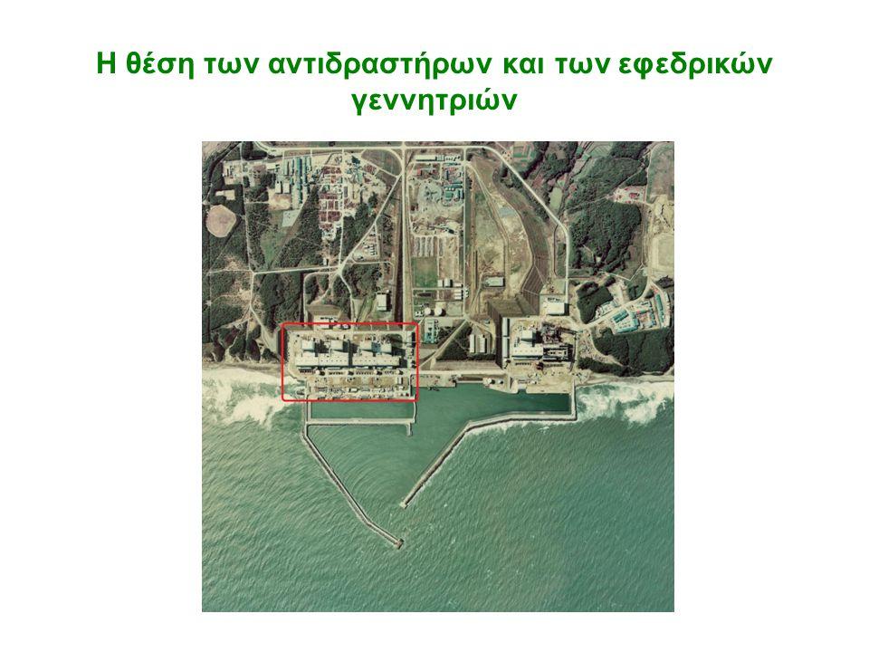 Η θέση των αντιδραστήρων και των εφεδρικών γεννητριών