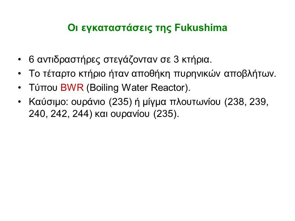 Οι εγκαταστάσεις της Fukushima