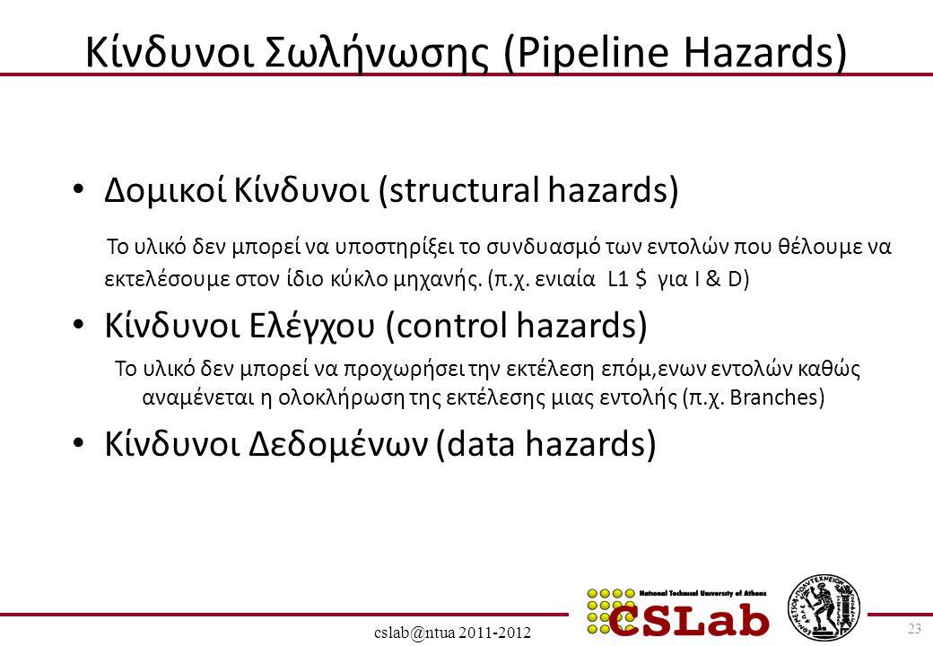 Κίνδυνοι Σωλήνωσης (Pipeline Hazards)