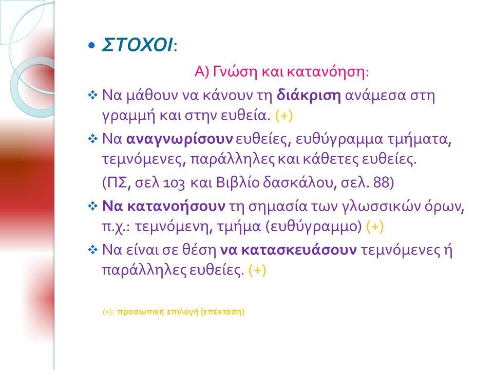 Α) Γνώση και κατανόηση: