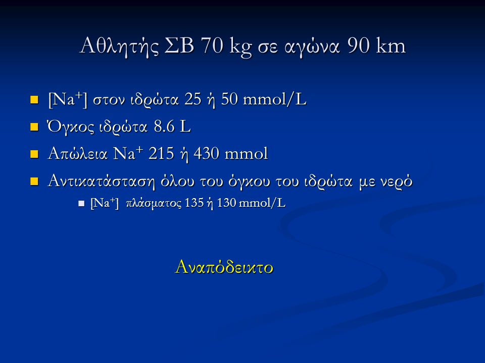 Αθλητής ΣΒ 70 kg σε αγώνα 90 km