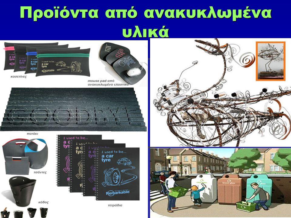 Προϊόντα από ανακυκλωμένα υλικά