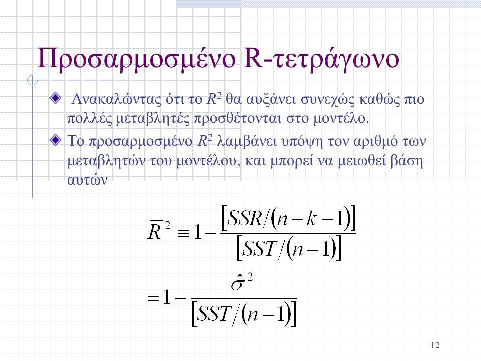 Προσαρμοσμένο R-τετράγωνο