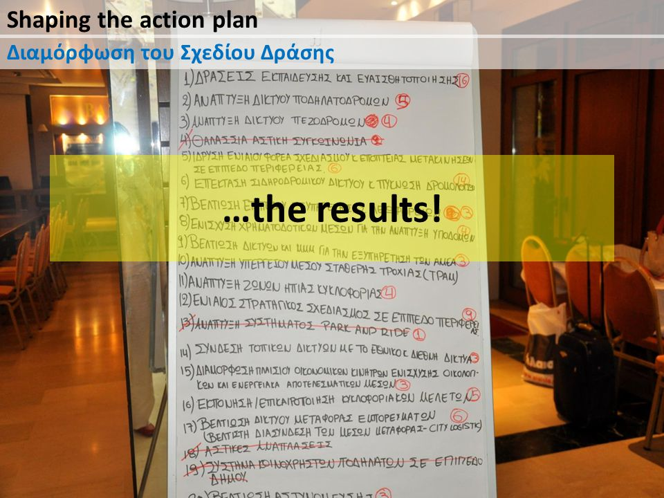 Shaping the action plan