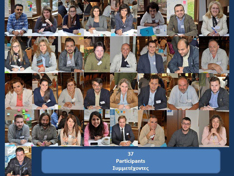 37 Participants Συμμετέχοντες
