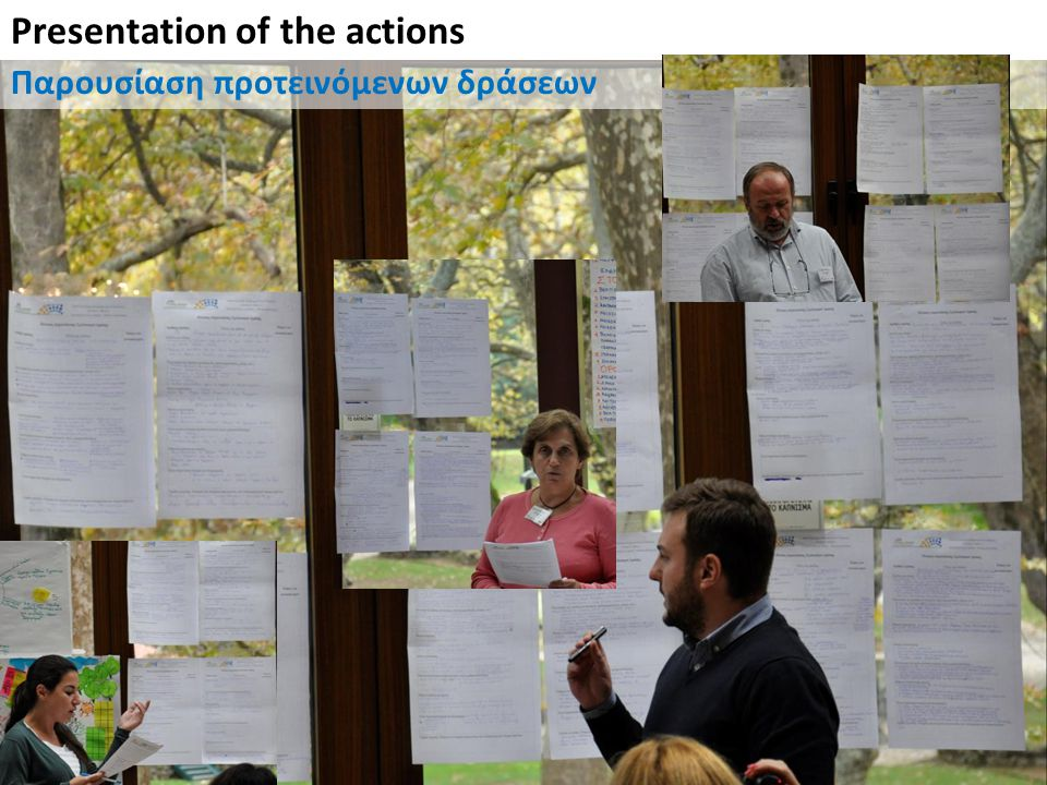 Presentation of the actions