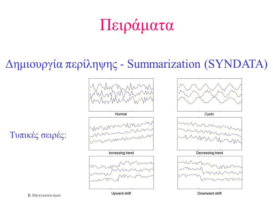Πειράματα Δημιουργία περίληψης - Summarization (SYNDATA)