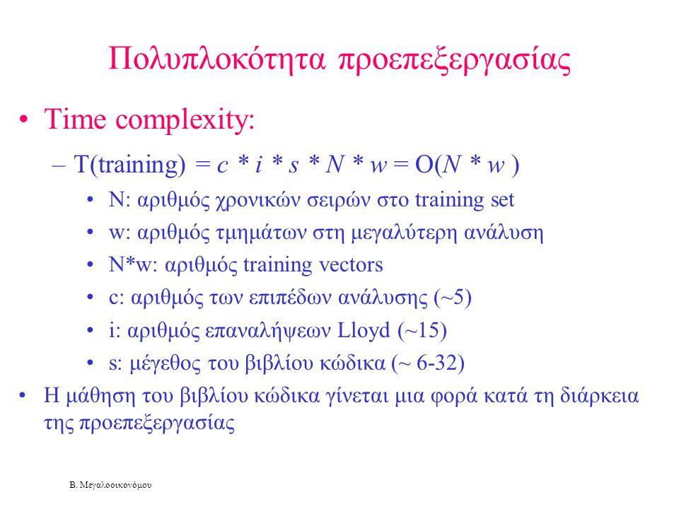 Πολυπλοκότητα προεπεξεργασίας