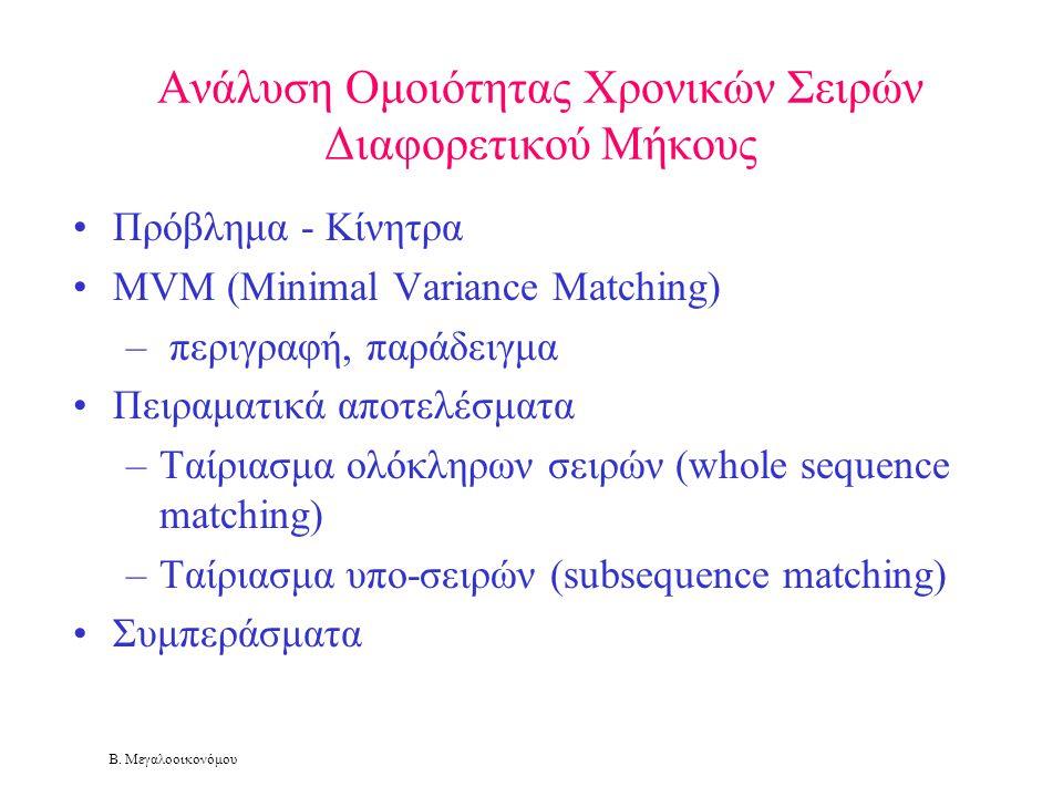 Ανάλυση Ομοιότητας Χρονικών Σειρών Διαφορετικού Μήκους