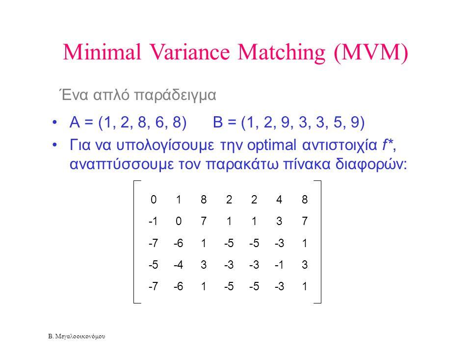 Minimal Variance Matching (MVM)
