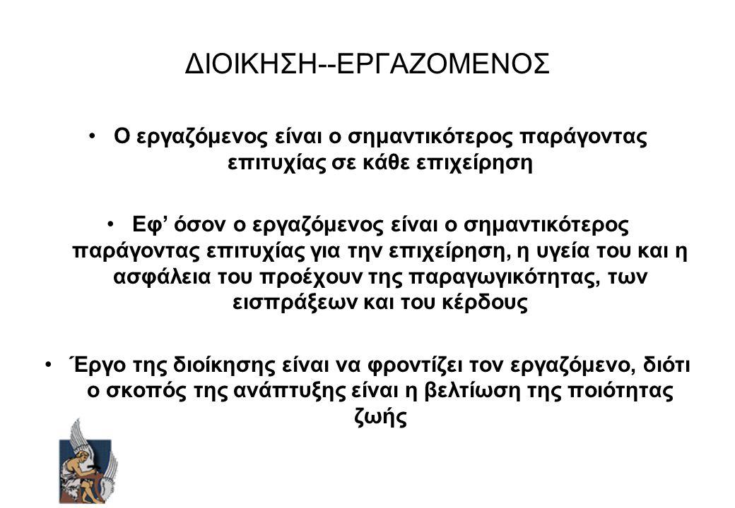 ΔΙΟΙΚΗΣΗ--ΕΡΓΑΖΟΜΕΝΟΣ