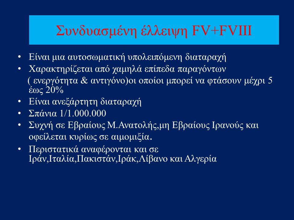 Συνδυασμένη έλλειψη FV+FVIII