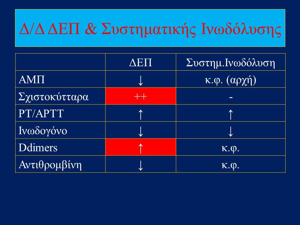 Δ/Δ ΔΕΠ & Συστηματικής Ινωδόλυσης