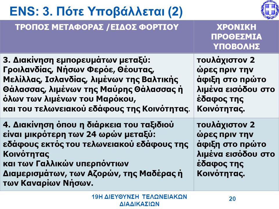 ENS: 3. Πότε Υποβάλλεται (2)
