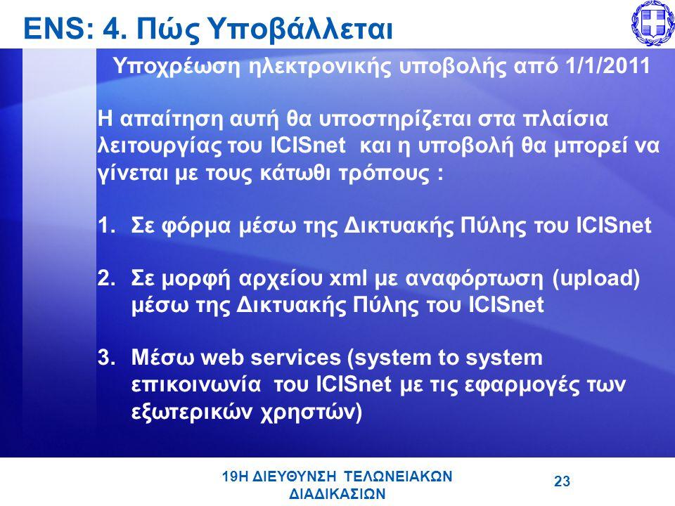 ENS: 4. Πώς Υποβάλλεται Υποχρέωση ηλεκτρονικής υποβολής από 1/1/2011