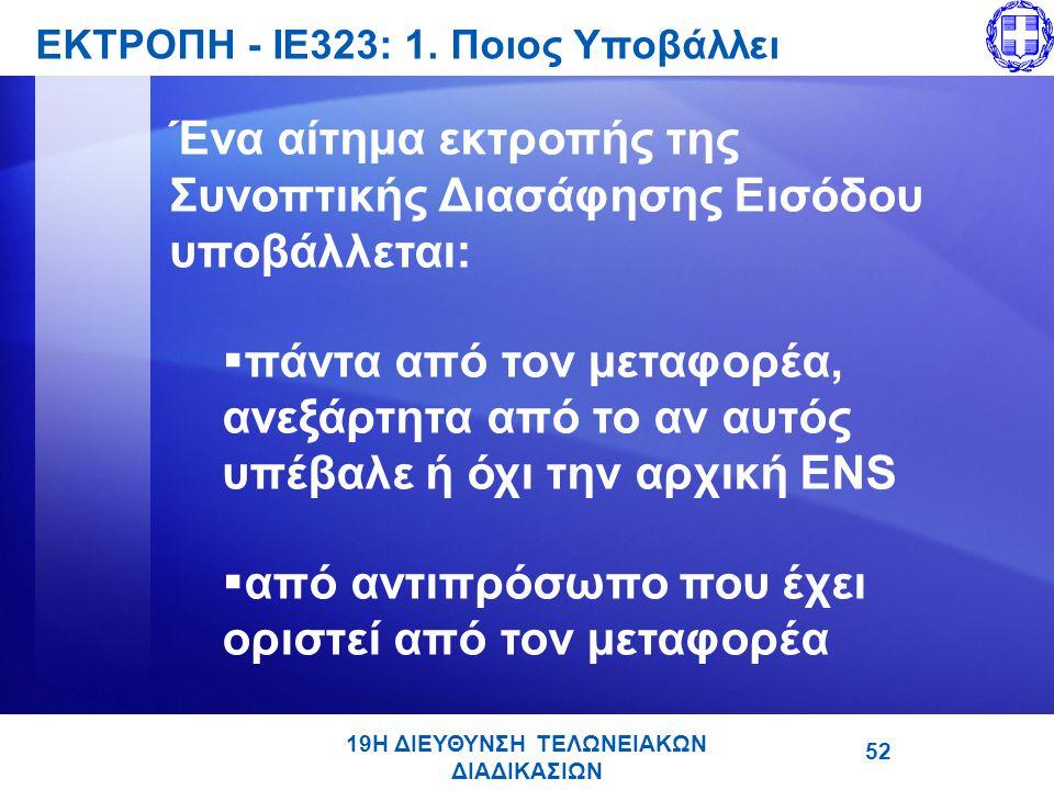 ΕΚΤΡΟΠΗ - ΙΕ323: 1. Ποιος Υποβάλλει