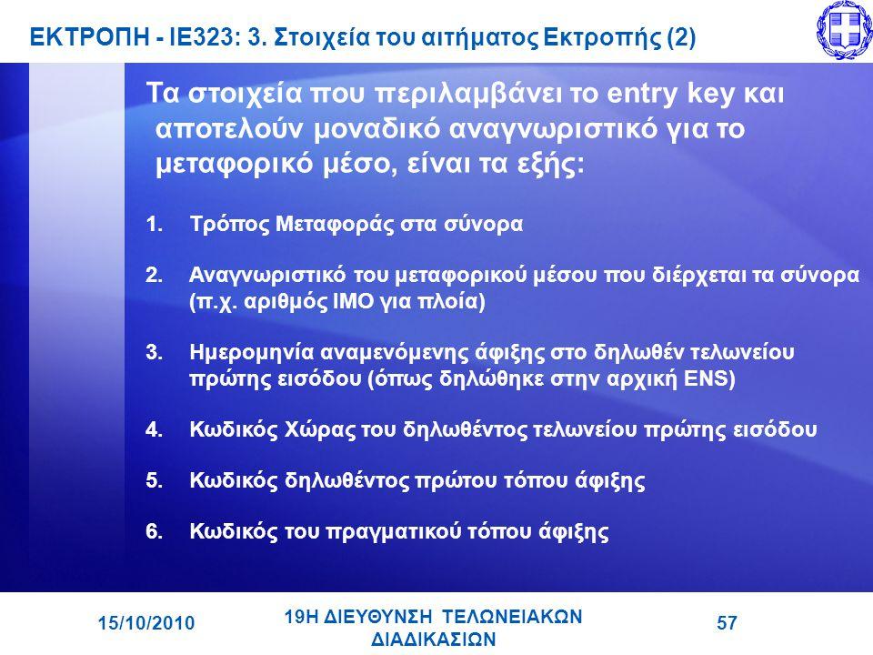 ΕΚΤΡΟΠΗ - ΙΕ323: 3. Στοιχεία του αιτήματος Εκτροπής (2)
