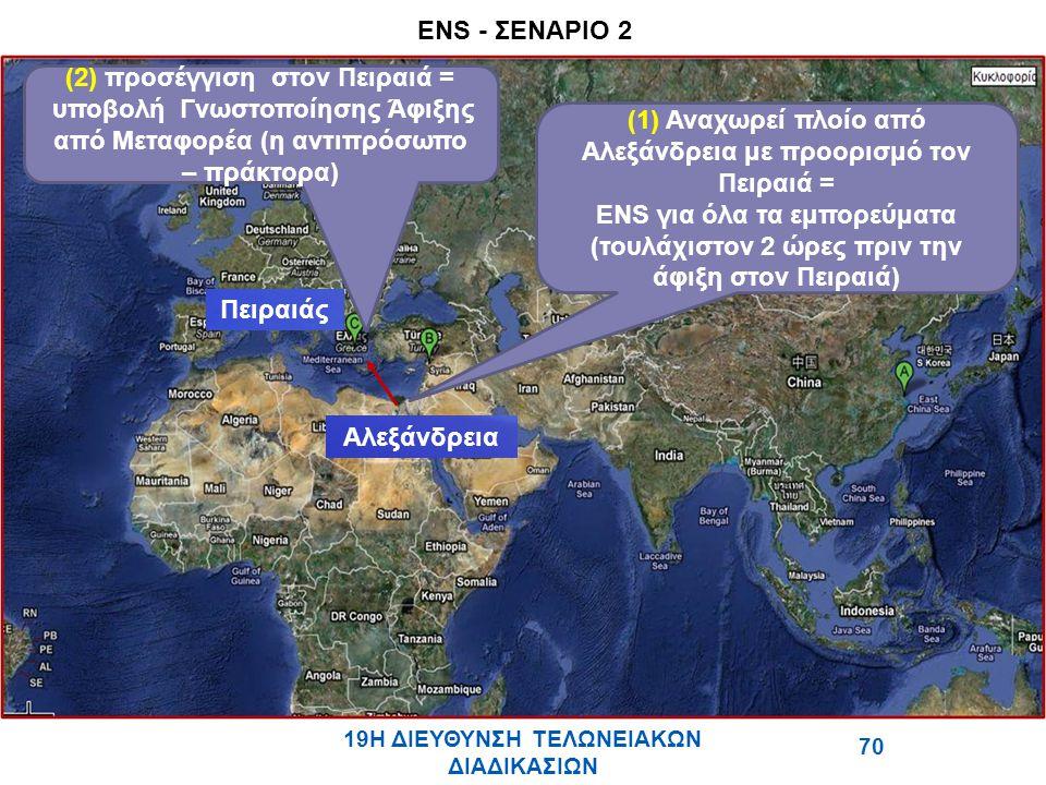 (2) προσέγγιση στον Πειραιά =
