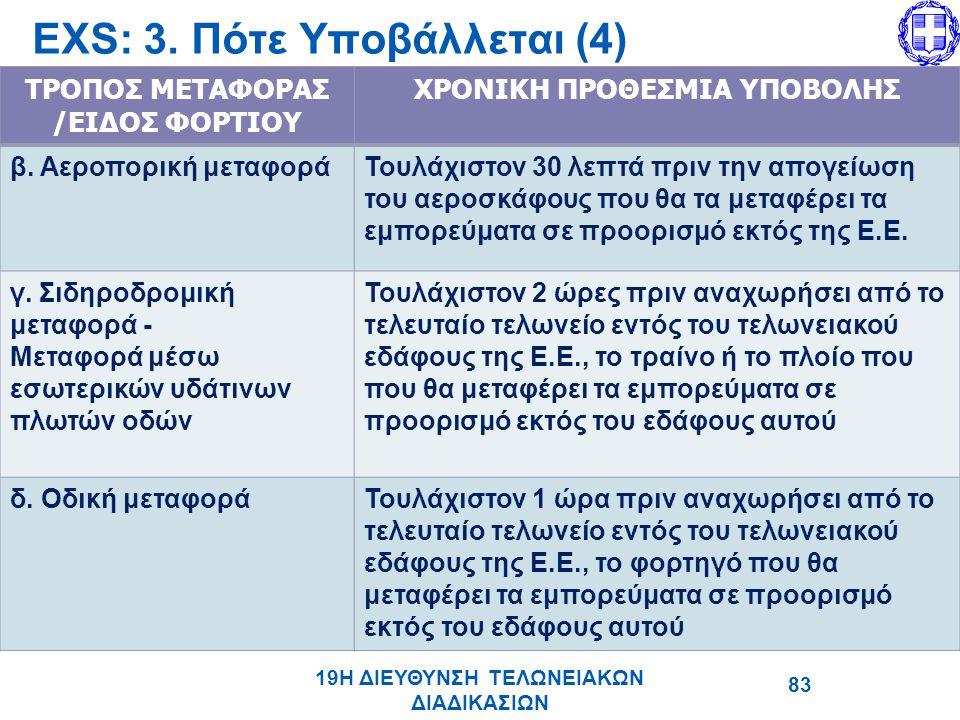 EΧS: 3. Πότε Υποβάλλεται (4)