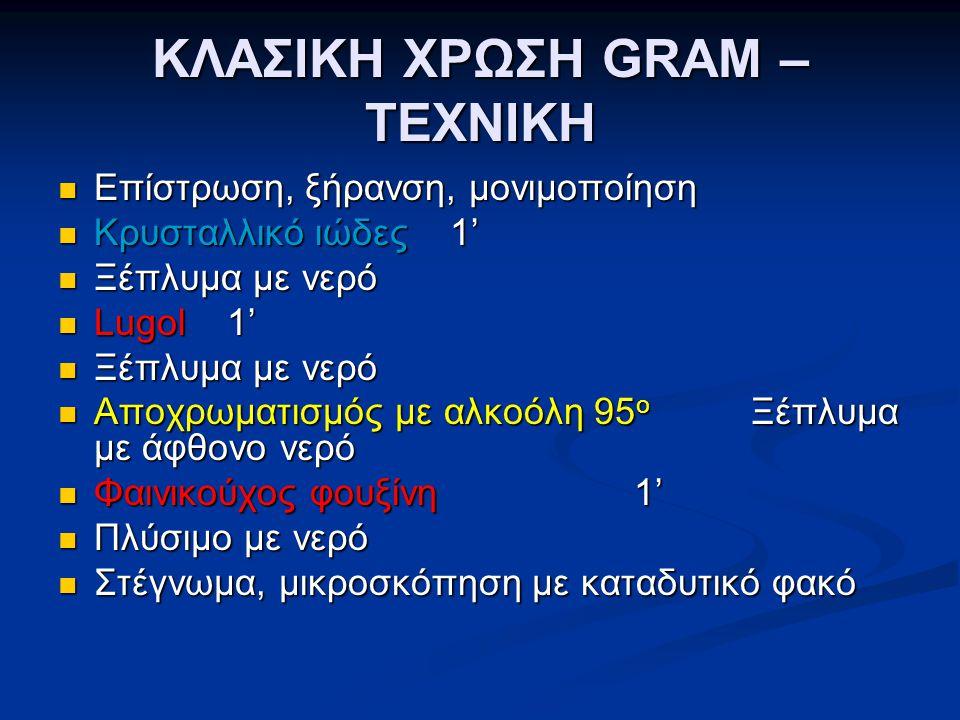 ΚΛΑΣΙΚΗ ΧΡΩΣΗ GRAM – ΤΕΧΝΙΚΗ