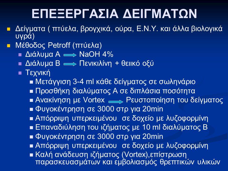 ΕΠΕΞΕΡΓΑΣΙΑ ΔΕΙΓΜΑΤΩΝ