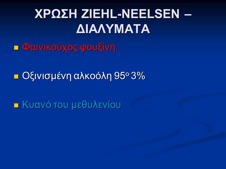 ΧΡΩΣΗ ZIEHL-NEELSEN – ΔΙΑΛΥΜΑΤΑ
