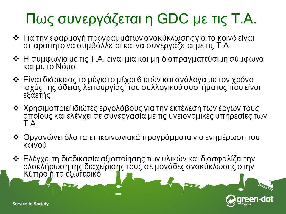 Πως συνεργάζεται η GDC με τις T.A.