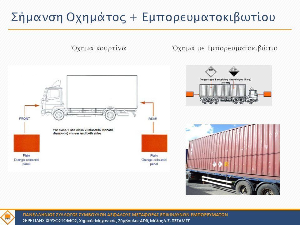 Σήμανση Οχημάτος + Εμπορευματοκιβωτίου