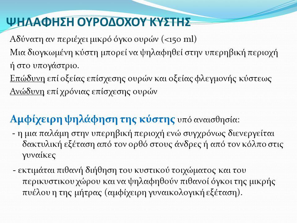 ΨΗΛΑΦΗΣΗ ΟΥΡΟΔΟΧΟΥ ΚΥΣΤΗΣ