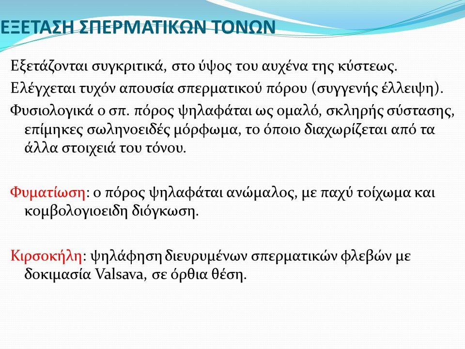 ΕΞΕΤΑΣΗ ΣΠΕΡΜΑΤΙΚΩΝ ΤΟΝΩΝ