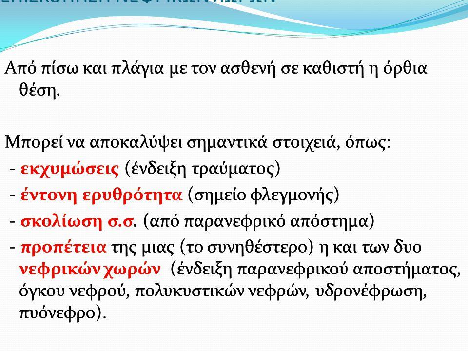 ΕΠΙΣΚΟΠΗΣΗ ΝΕΦΡΙΚΩΝ ΧΩΡΩΝ