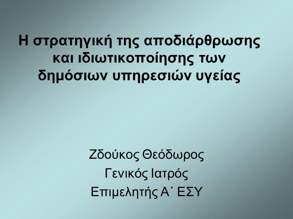 Ζδούκος Θεόδωρος Γενικός Ιατρός Επιμελητής Α΄ ΕΣΥ