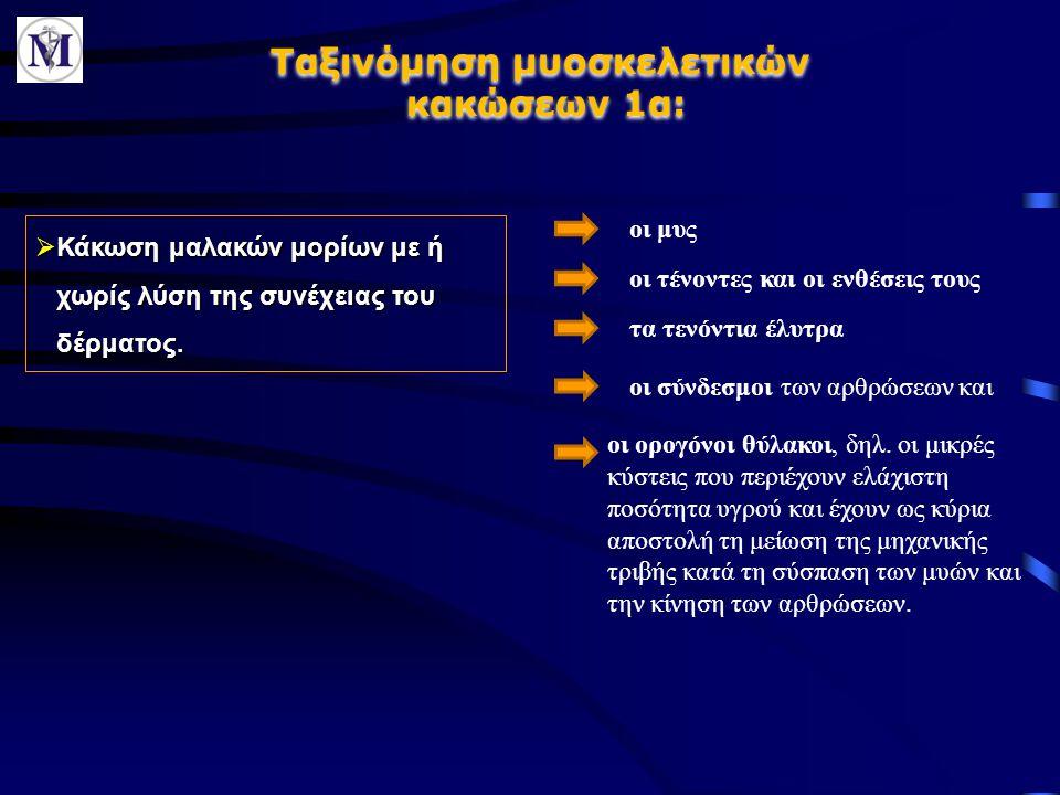 Ταξινόμηση μυοσκελετικών