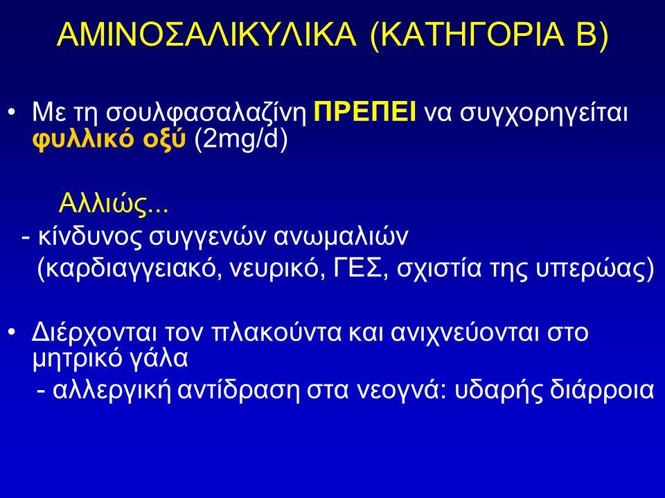 ΑΜΙΝΟΣΑΛΙΚΥΛΙΚΑ (ΚΑΤΗΓΟΡΙΑ Β)