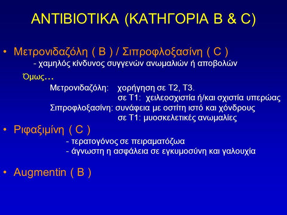 ΑΝΤΙΒΙΟΤΙΚΑ (ΚΑΤΗΓΟΡΙΑ Β & C)