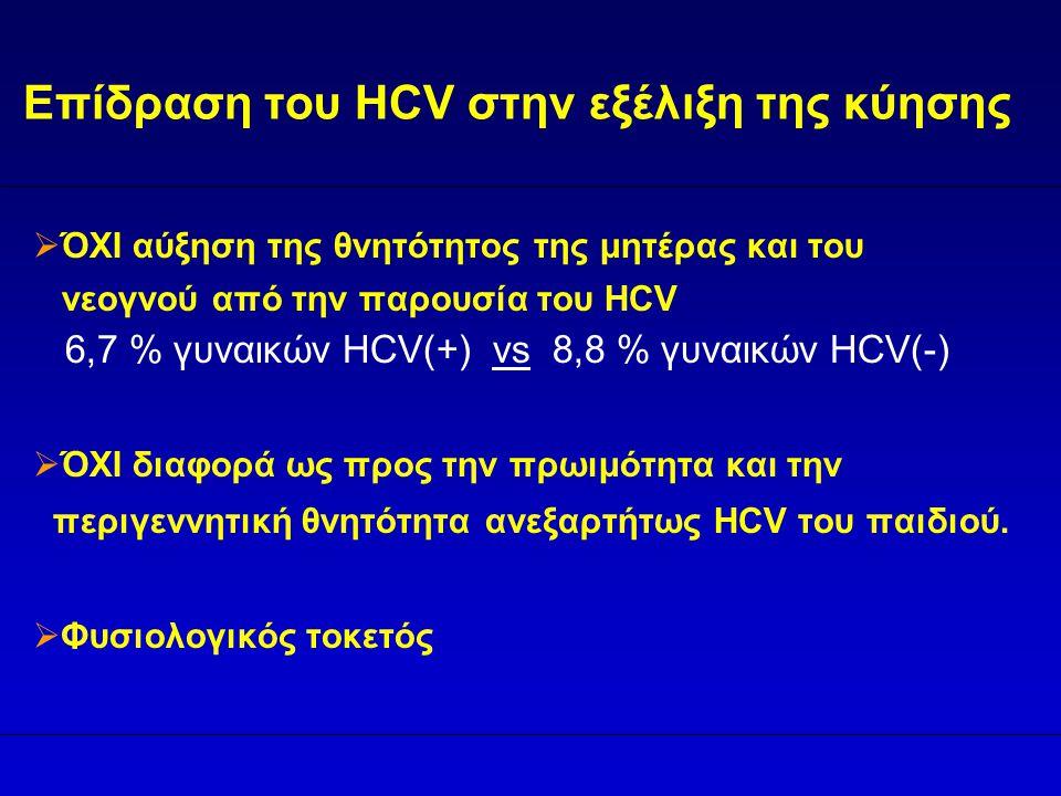 Επίδραση του HCV στην εξέλιξη της κύησης
