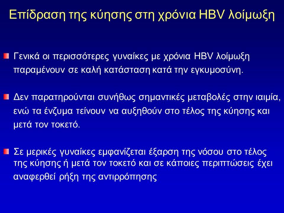 Επίδραση της κύησης στη χρόνια HBV λοίμωξη