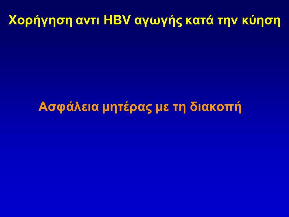 Χορήγηση αντι HBV αγωγής κατά την κύηση
