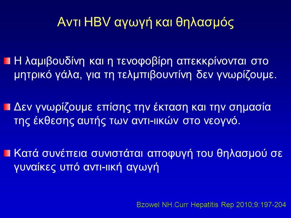 Αντι HBV αγωγή και θηλασμός