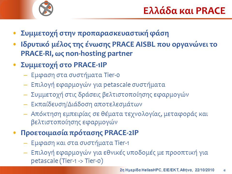 Ελλάδα και PRACE Συμμετοχή στην προπαρασκευαστική φάση