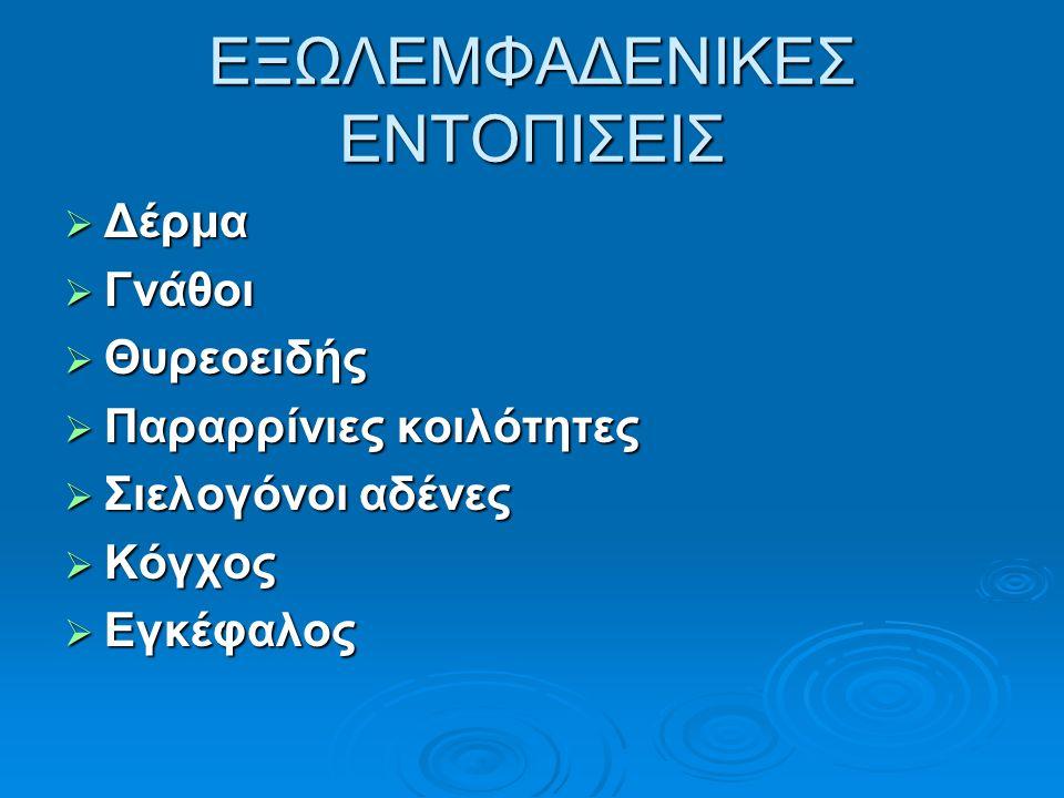 ΕΞΩΛΕΜΦΑΔΕΝΙΚΕΣ ΕΝΤΟΠΙΣΕΙΣ