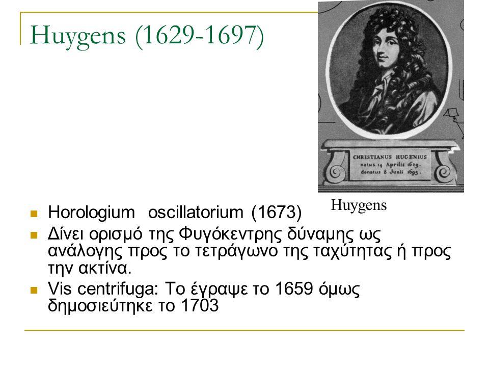 Huygens (1629-1697) Horologium oscillatorium (1673)