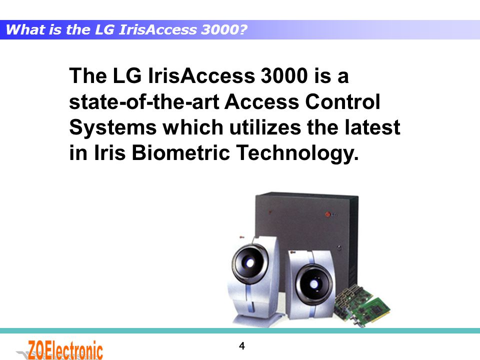 What is the LG IrisAccess 3000
